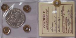 VATICANO 5 Lire SEDE VACANTE 1939 Moneta In ARGENTO Periziata Da CAVALIRE QFDC - Vaticano