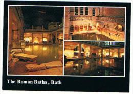 LOT DE 4 CARTES DE BATH THE ROMANS BATH + THE CITY - Bath