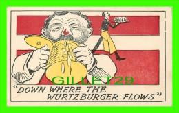"""COMICS - """"DOWN WHERE THE WURTZBURGER FLOWS"""" - UNDIVIDED BACK - - Bandes Dessinées"""