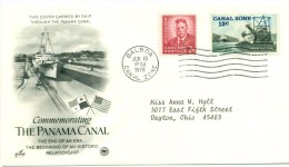 1978 USA Panama Canal First Day Cover - First Day Covers (FDCs)