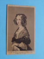 S. M. MARIE-LOUISE D'ORLEANS Reine Des Belges ( Format CDV Phot - Leon Mertens Lith. Bruxelles ( Voir Photo ) ! - Célébrités