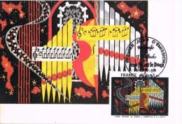 16503. Tarjeta Maxima PARIS 1980. Misica, Musik, J. Sebastian BACH - Cartas Máxima