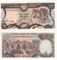 CYPRUS   1 Pound      P53a      1.11.1989      UNC - Chypre