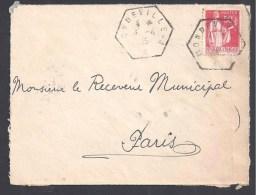 CALVADOS - Cachet Hexagonal  MONDEVILLE - A - Postmark Collection (Covers)
