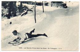 Les Sports D' Hiver Dans Les Alpes - En Toboggan    (84010) - Non Classificati