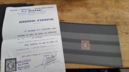 LOT 295228 TIMBRE DE FRANCE OBLITERE N�18a VALEUR 4500 EUROS AVEC CERTIFICAT