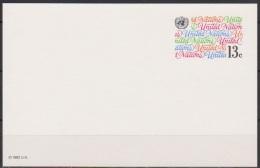 UNO New York 1982  Ganzsache Postkarte Mi-Nr.P 8 Ungebraucht  (  D 3536 ) - New York – UN Headquarters