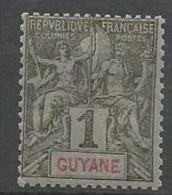 GUYANE TYPE GROUPE N�  30   NEUF*    CHARNIERE / MH