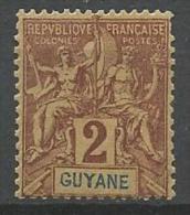 GUYANE TYPE GROUPE N�  31   NEUF*    CHARNIERE / MH