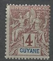 GUYANE TYPE GROUPE N�  32   NEUF*    CHARNIERE / MH
