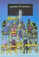 """Carte Postale """"Cart'Com"""" (1995) """"Apprenons Le Caniveau"""" Une Oeuvre De Slobodan - Nice 1995 (chiens) - Publicité"""