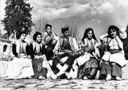MONTENEGRO  ( Folklore Musique Danse ) CRNOGORSKA NARODNA NOSNIA (1/2) -  CPSM Photo Noir Blanc GF 1962 - Montenegro