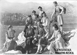 MONTENEGRO  ( Folklore Musique Danse ) CRNOGORSKA NARODNA NOSNIA (2/2) Putnik - Hereegnovi CPSM Photo Noir Blanc GF 1962 - Montenegro