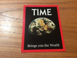 "Calendrier 1980 1981 ANGLETERRE ""TIME"" (7x9cm) (planète Terre) - Kalenders"