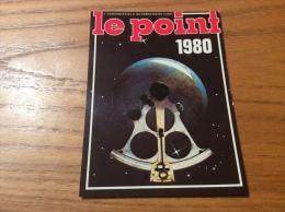 """Calendrier 1980 """"LE POINT (journal)"""" (7,5x10,2cm) - Petit Format : 1971-80"""