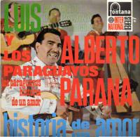 * LP *  LUIS ALBERTO Y LOS PARAGUAYOS - HISTORIA DE UN AMOR (Holland 1960 EX-!!!)