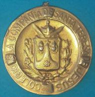 PIN-64  CUBA MEDALLA DE ESCUELA COLEGIO JESUITAS DE MERITO. SCHOOL MEDALL. - Tokens & Medals