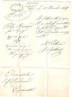 COLLETTORIE LAZIO-LETTERA PRETURA DI SORIANO TIMBRO OVALE IL PRETORE DI SORIANO - 1861-78 Vittorio Emanuele II