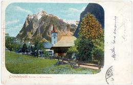 Bern / Berne - GRINDELWALD - Kirche Und Wetterhorn  - Switzerland - BE Berne