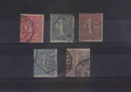 France Type Semeuses Lignée  N°129 Au N°133 ( Cote 10,65€ ) - 1903-60 Semeuse Lignée