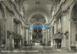 28045 ITALY PARABIAGO MILAN INTERIOR CHURCH PAROCHIAL POSTAL POSTCARD - Italia