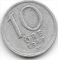 *sweden 10 Ore 1949  Km 813    Xf+ - Suède