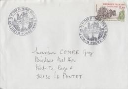 Enveloppe  Oblitération  Arrivée  Du  1er  TOUR  DE  FRANCE   CYCLISTE   FEMININ    RODEZ   1984 - Cycling