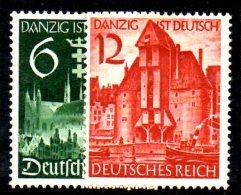 TERZO REICH 1939  , DANZICA Serie  N. 652/653  * - Germania