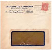 LETTRE - PERFORE : VACUUM OIL COMPANY (Gironde) 1930 - Perforés