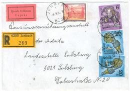 Brief, Einschreiben, Reko, Express, Jenbach Nach Salzburg, MiFr 1995, (1) - 1945-.... 2. Republik