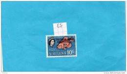 Tristan Da Cunha-n°  67 Timbre Neuf ***sans Charnière Impeccable-Surchargé 1963-cote De 1998==19eu - Tristan Da Cunha