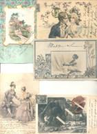 COLECCION DE POSTALES DE LA ARISTOCRATA TERRATENIENTE LAURA L. ARECHAVALETA PARTE 19 TODAS CIRCULADAS Y FIRMADAS - Postkaarten