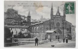 LE PUY EN 1912 - N° 488 - EGLISE SAINT LAURENT CONTENANT LE TOMBEAU DE DUGUESCLIN AVEC PERSONAGES - CPA VOYAGEE - Le Puy En Velay