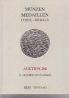 Münzen Medaillen - Coins Medals - Auktion 266 - 25 Oktober 1995 In Zürich - Hess -Divo AG - Allemand