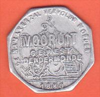 Dendermonde 1880 - Jeton Vooruit  1 Broodkaart - Monetary / Of Necessity