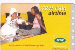 Rwanda, FRW 1500 Airtime, 2 Women, 2 Scans. - Rwanda