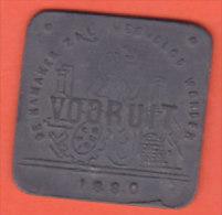Vooruit 1880 1 Broodkaart - Gemeentepenningen
