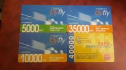 Belarus-byfly-(set 4 Cards)-prepiad-(5000,10.000,35.000,40.000)-used Card+4card Prepiad Free