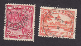 British Guiana, Scott #212, 215, Used, Gold Mining, Stabroek Market, Issued 1934 - British Guiana (...-1966)