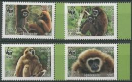 Laos 2008 WWF Naturschutz Weißhandgibbon 2062/65 A Postfrisch - Laos