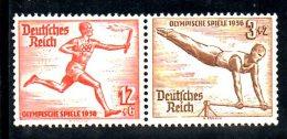 TERZO REICH 1936 , Olimpiadi Berlino N. 565+569 Coppia  *** - Germania