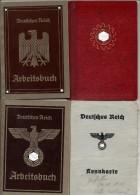 PROMO 3 Carnets Et Une Carte D´identité Allemands - 1939-45