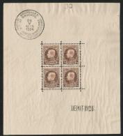 1924 - COB  BLOC n� 1 - BL1 ** (MNH) - NON PLIE - IMPECCABLE