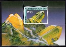 R.D.CONGO - 2002 -  BLOC N° 208 -  MINERAUX - Democratic Republic Of Congo (1997 - ...)
