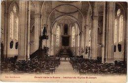 CPA DENAIN Apres La Guerre .- Interieur De L'eglise St. Joseph  (190673) - Unclassified