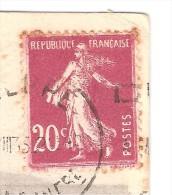 VARIETE Sur Semeuse 20 C INSCRIPTIONS DEDOUBLEES , Sur Carte DIEPPE L'Heure Du Bain / Falaises; 1932, TB - Variétés: 1931-40 Lettres & Documents