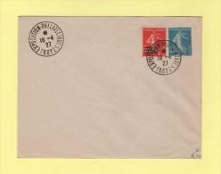 Entier 25c Semeuse - Exposition Philatelique - Troyer - 18-4-1927 - Enteros Postales