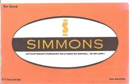 Buvard SIMMONS Le Plus Grand Fabricant De Literie Du Monde ... Et De Loin! Offfert Par Meubles Roger Meneau à Pithiviers - Buvards, Protège-cahiers Illustrés