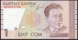 Kyrgyzstan 1 Som 1999 P15 UNC - Kirghizistan