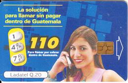 GUATEMALA - Girl On Phone, 110/para Llamar Por Cobrar, Chip GEM3.1, Used - Guatemala